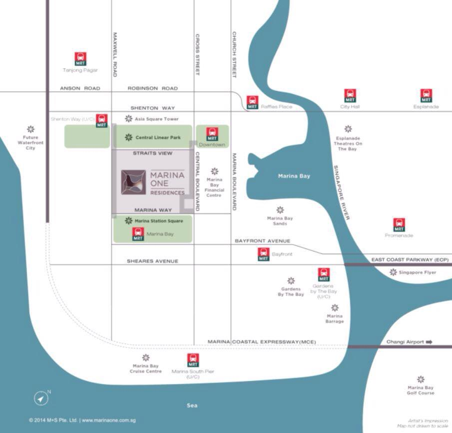 Marina One Residences Location Map Picture